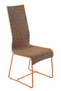 Kente chaise, Chaise avec dossier haut, tissé à la main, pour une utilisation extérieure