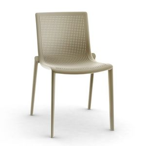 Kirama - S, Chaise moderne, empilable, résistant, en plein air, en plastique