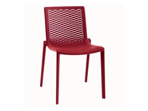 Kiranet-S, Chaise en plastique moderne, empilable, pour la pizzeria