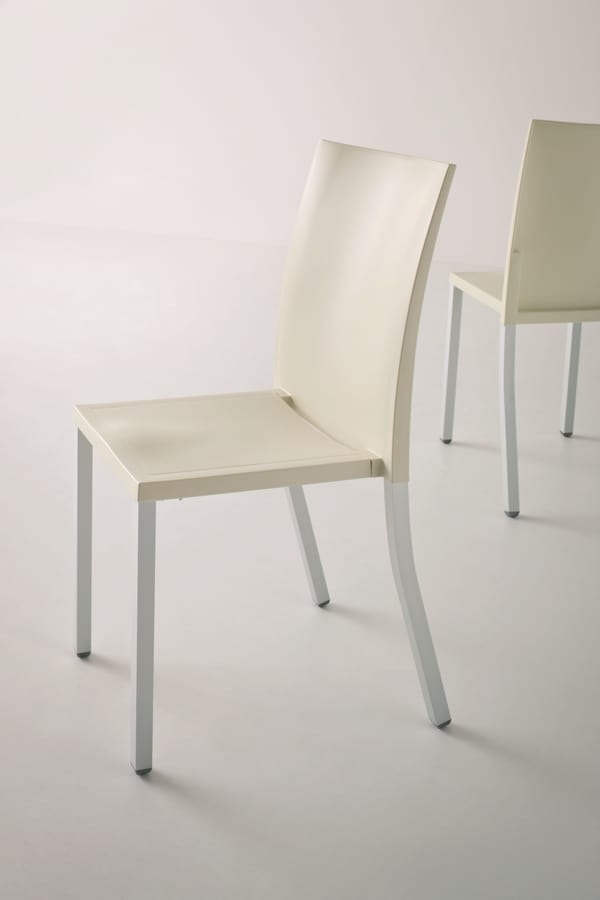 Liberty, Chaise en métal empilable pour une utilisation contrat