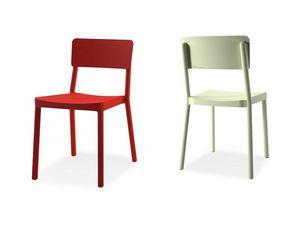 Lisboa chair, Chaise empilable en plastique pour les bars et restaurants