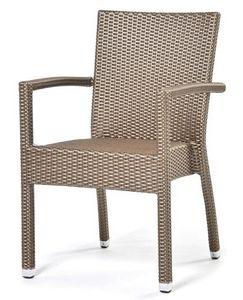 Lotus Fauteuil, Chaise avec accoudoirs, recouvert de plastique, pour une utilisation extérieure