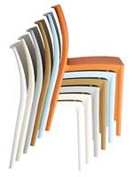 Maya, Chaise empilable en plastique pour les hôtels, restaurants et bars