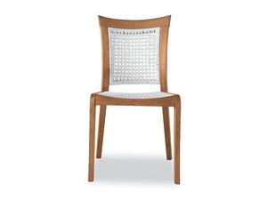 Mirage chaise - polypropylène, Chaise en bois et polypropylène, pour l'extérieur