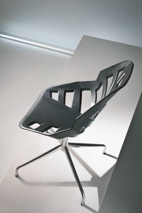 Ninja L, Chaise avec structure en métal, pour une utilisation du contrat