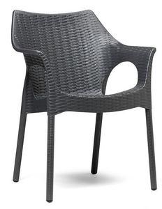 Olimpia Trend, Fauteuil d'extérieur avec surface de motif tissé