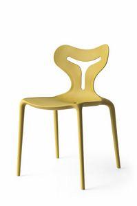 Orson, Chaise empilable en polypropylène, en différentes couleurs