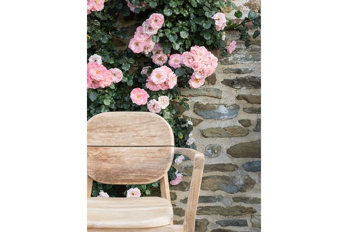 Pebbles 0361, Chaise d'extérieur empilable en bois de teck