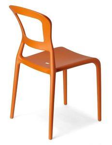Pepper, Chaise empilable en technopolymère coloré, aussi pour jardin