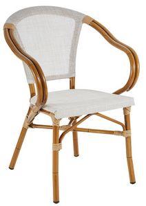 PL 420, Chaise en aluminium et textilène, dans style de bambou