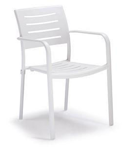 PL 450, Chaise empilable en aluminium pour jardins
