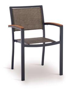 PL 466, Chaise en aluminium tressé, pour les jardins