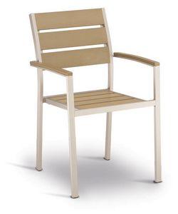 PL 471, Chaise en aluminium et techno-bois, l'effet de l'acier