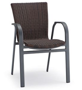 PL 733, Chaise en aluminium, coque torsadée, pour l'extérieur
