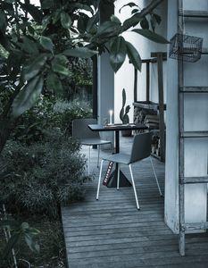 Rama Four Legs Outdoor, Chaise polipropilene, idéale pour les espaces extérieurs