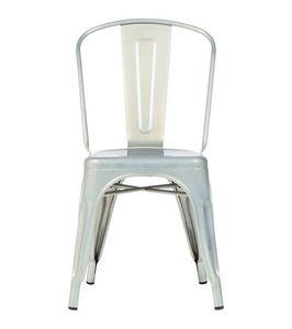 Reply chaise A, Chaise empilable en acier galvanisé et peint