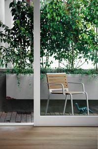 Rest, Chaise en aluminium avec siège en polyester, pour extérieur