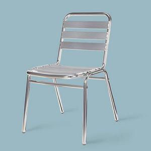 SE 060, Chaise en aluminium poli, pour l'extérieur