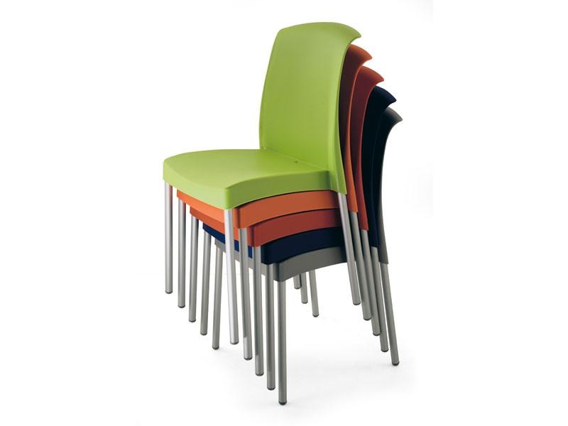 SE 2070, Chaise en aluminium et en plastique, meubles de jardin