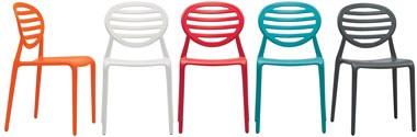 SE 2317, Chaise en polypropylène empilable, pour le jardin et le patio