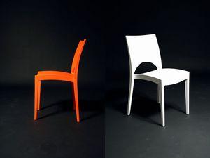 SE 6314, Chaise en plastique moderne, Pizzeria extérieur