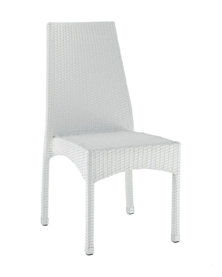 SE 773, Tissé chaise d'extérieur, avec les jambes en aluminium