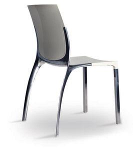 SE 800 / EST, Chaise en aluminium et polycarbonate, dans un style élégant