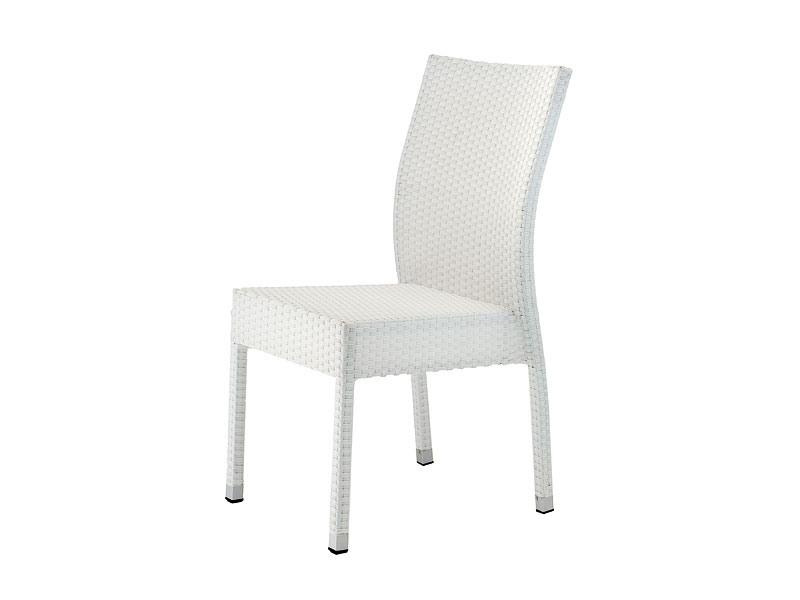 SE 900, Chaise empilable en aluminium et PVC, pour les jardins