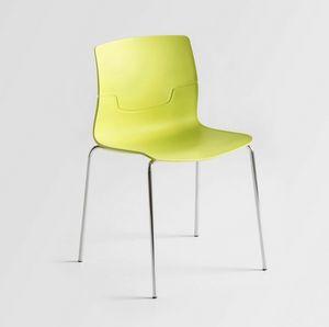 Slot NA, Chaise avec pieds en métal chromé, coque en polymère