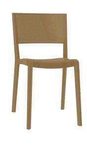 Stan - S, Chaise empilable pour l'extérieur, chaise en plastique pour les jardins
