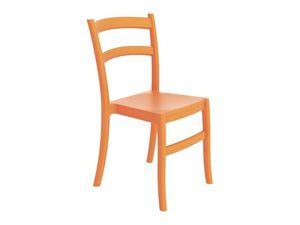 Telma, Chaise en plastique, dans des couleurs différentes, pour bar extérieur