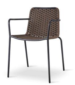 TIZI, Chaise d'extérieur tressée