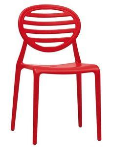 Top Gio, Chaise empilable en technopolymère, aussi pour jardin