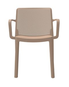 Traforata - P, Chaise de jardin avec accoudoirs empilables en polypropylène