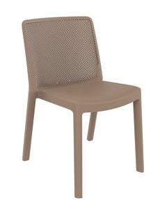 Traforata - S, Chaise en polypropyl�ne avec dossier perfor�, pour usage ext�rieur