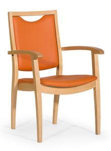 Salus ARMS, Chaise rembourrée pour les maisons de repos