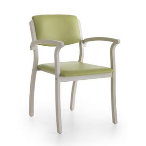 Silver Age 03 P, Chaise stable avec accoudoirs, robuste, pour une salle d'attente
