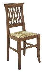 101, Chaise rustique avec assise en paille