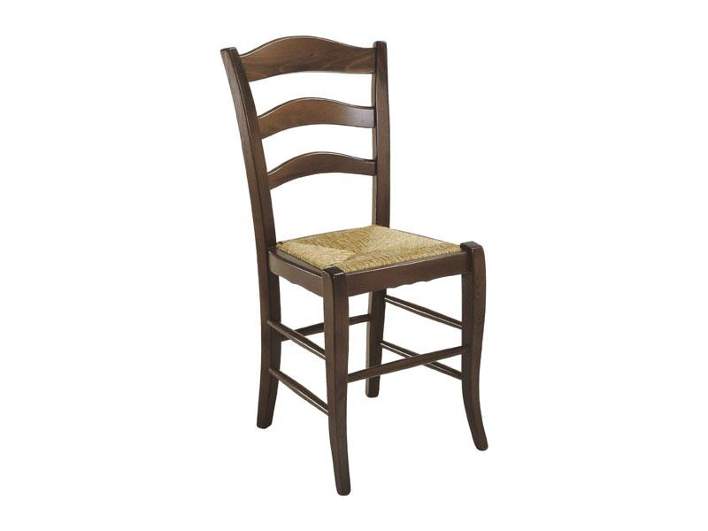 105, Chaise rustique avec assise en paille, pour un usage résidentiel
