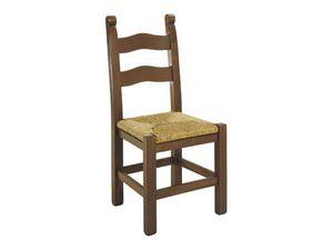 108, Chaise rustique en bois peint, avec différentes finitions