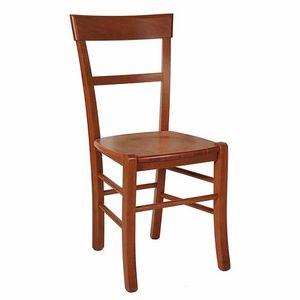 109, Chaise rustique avec assise en bois