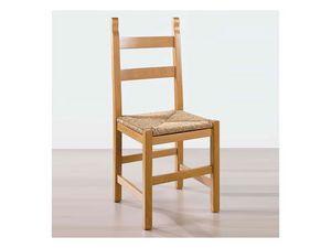 117, Chaise en bois massif, siège de la paille, pour taverne