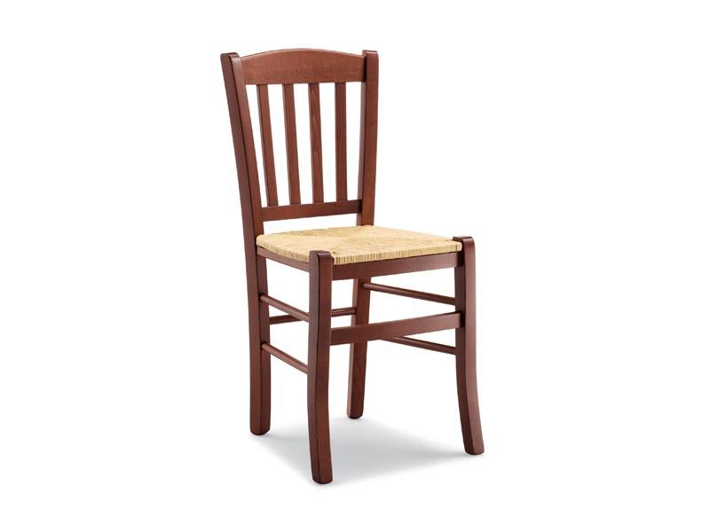 139, Chaise rustique avec assise en paille, pour tavernes et auberges