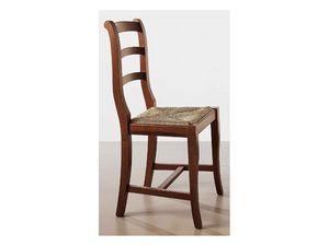 152, Chaise en bois brut, siège de la paille, pour une utilisation du contrat