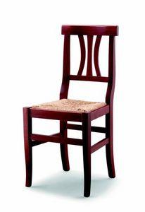 176 Fiorella, Chaise rustique avec siège en paille
