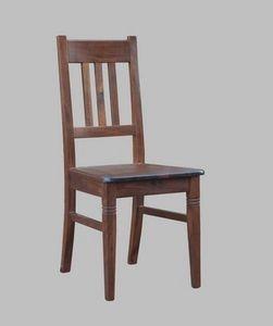 188, Chaise rustique en bois de hêtre, rembourrée
