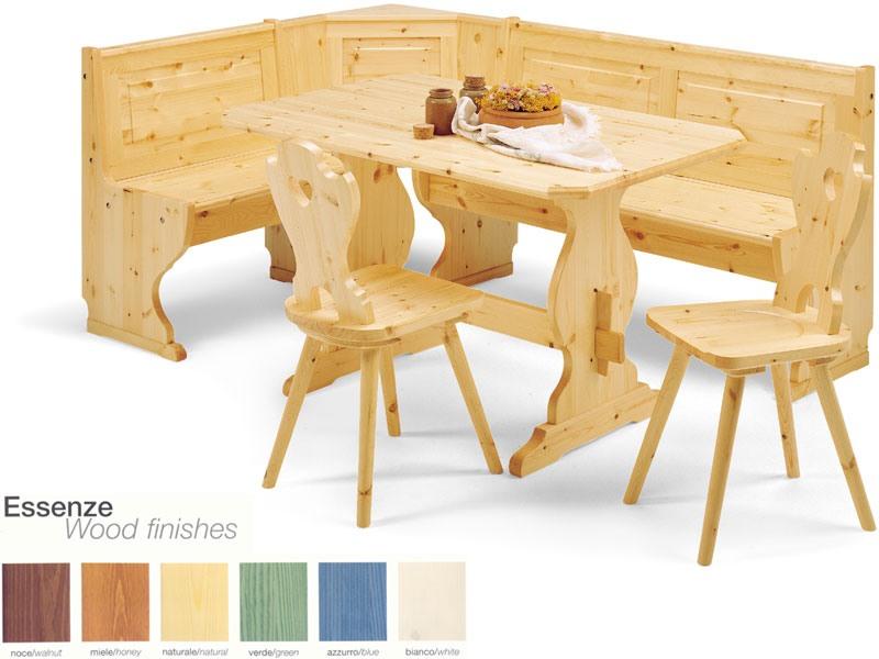 2/GNO, Coin banc, de style rustique en bois, pour le restaurant