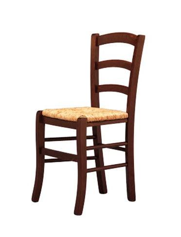 207, Chaise solide, en bois, avec le siège de paille, pour la brasserie pub