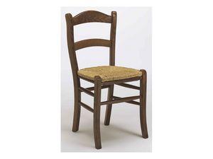 303, Chaise rustique en bois de hêtre pour les bars et restaurants