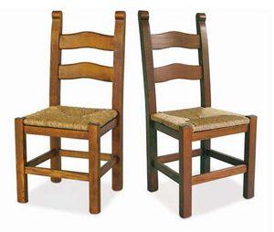 Bassano, Chaise en bois avec assise en paille